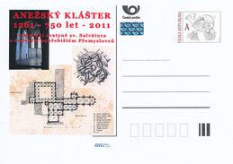 Tschech. Rep. / Ganzsachen (Pre2011/60) St. Agneskloster In Prag; Königliche Begräbnisstätte (1261-2011) - Klöster