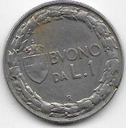 Italie - 1 Lire - 1923 - Argent - 1900-1946 : Victor Emmanuel III & Umberto II