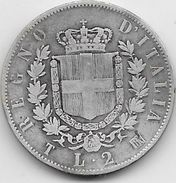 Italie - 2 Lires - 1863 - Argent - 1861-1946 : Reino