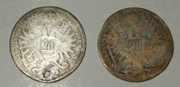 AUSTRIA - 20 KREUZER  - 1870 – 2 Monete – (140) - Austria