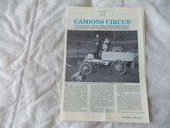 Article Sur Le Cirque Pinder Du Magazine Les Routiers - Old Paper