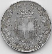 Italie - 5 Lires - 1879 - Argent - 1878-1900 : Umberto I