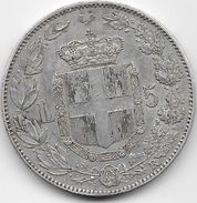 Italie - 5 Lires - 1879 R - Argent - 1878-1900 : Umberto I
