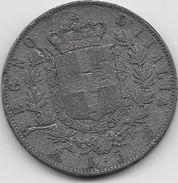 Italie - 5 Lires - 1870 - Fausse Pour Servir - 1861-1878 : Victor Emmanuel II