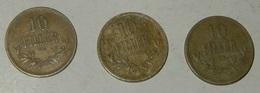 UNGHERIA – 10 FILLER – 1915 – 3 MONETE – (186) - Ungheria