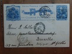 HAITI - Cartolina Postale Spedita Da Haiti In Belgio - Con Annullo Arrivo + Spese Postali - Haïti