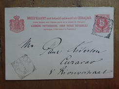 CURAÇAO - Cartolina Postale Fine '800 - Viaggiata + Spese Postali - Curaçao, Antilles Neérlandaises, Aruba