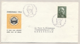 Nederland - 1954 - 10 Cent Zomerzegel J. Huizinga Op Cover FDC Naar Amsterdam - FDC