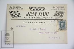 Old 1930 Spanish Commercial Advertising Postcard - Jean Gaston D'Argy - Paris - Tobacco Cigarette Paper - Publicidad