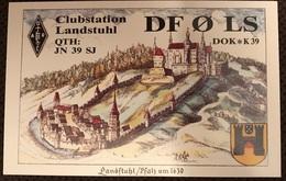 Amateurfunk Karte Deutschland Landstuhl Pfalz Um 1630 ...Stadtwappen Burg - Radio Amatoriale