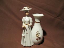 PORCELAINE  FIGURINE + Vase - Ceramics & Pottery