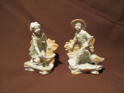 PORCELAINE BISCUIT  FIGURINE - Ceramics & Pottery