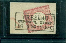 Adler Mit Grossem Brustschild; Nr. 19 Auf Briefstück, Stempel Breslau - Used Stamps