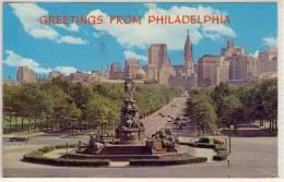PHILADELPHIA SKYLINE VIEWS THE BENJAMIN FRANKLIN PARKWAY - Philadelphia