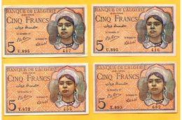 5 Francs Du 02 10 1944 - Pick 94b  SPL-EF - Algeria