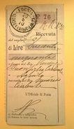 VAGLIA POSTALE RICEVUTA FOGGIA 1910 - 1900-44 Victor Emmanuel III.