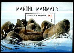 ANTIGUA & BARBUDA 2016** - Marine Mammals - Block  MNH, Come Da Scansione. - Mammiferi Marini