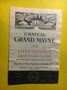 6446 - Château Grand Mayne 1982 Saint Emilion - Bordeaux