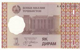 Billet Tadjikistan 1 Diram - Tadschikistan