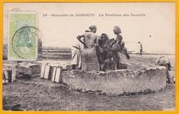 1923 - CP De Djibouti, C. Fr. Des Somalis Vers Paris Puis Buchy - Affrt 10 C Seul - Vue  La Fontaine Des Somalis - Lettres & Documents