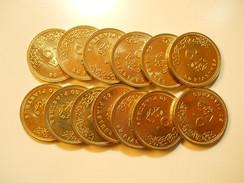 Egypt Lot 13 Coins 50 Piastres 2005 BU - Coins & Banknotes