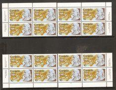 006068 Canada 1976 US Bicentennial 10c Plate Block Set MNH - Plate Number & Inscriptions