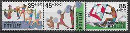 1983 ANTILLES NEERLANDAISES  674-76 ** Sports, Planche à Voile, Haltérophilie - Curaçao, Antilles Neérlandaises, Aruba