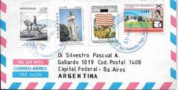 HONDURAS COLONIA KENNEDY 1993 SOBRE CIRCULADO A SILVESTRO PASCUAL BUENOS AIRES ARGENTINA CORREO AEREO RARE - Honduras