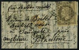 Lettre Armand Barbès, 30c Obl étoile + Càd 10 Oct 70 Pour Folkestone, Au Verso Arrivée 4 Oct 70, T.B. - Stamps