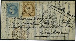 Lettre LE GODEFROY De CAVAGNAC, Paris Place De La Madeleine 11 Oct 70, Affr. à 30c Pour Londres, Arrivée 18.10.70. T.B. - Stamps