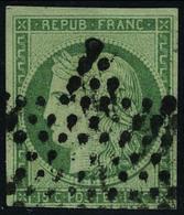 Oblitéré N° 2, 15c Vert T.B. Signé Brun - Stamps
