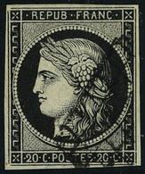 Oblitéré N° 3, Et 3a, Les 20c Noir Sur Jaune Et Noir Sur Blanc TB - Stamps