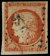 Oblitéré N° 5, 40c Orange, T.B. Signé Brun - Stamps