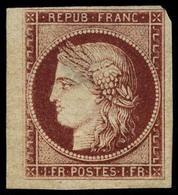 Neuf Sans Gomme N° 6, 1f Carmin, Bdf, Pelurage, Aspect Superbe, Signé Calves. - Stamps