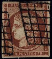 Oblitéré N° 7d, 1f Vermillon Foncé, Très Jolie Nuance, Superbe, Signé + Certificat Calves - Stamps