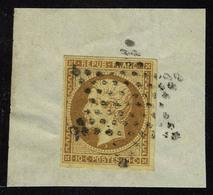 Oblitéré N° 9a, 10c Bistre Brun, Obl. étoile Sur Fragment, T.B. - Stamps
