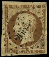 Oblitéré N° 9a, 10c Bistre Brun, Jolies Marges, T.B. - Stamps
