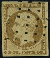 Oblitéré N° 9a, 10c Bistre Brun Obl Gros Points TB - Stamps