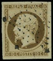 Oblitéré N° 9d, 10c Bistre Brun Foncé Marges énormes Obl Légère, Pièce De Luxe, Superbe - Stamps