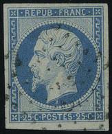 Oblitéré N° 10 Et 10a, 25c Bleu Et Bleu Foncé - Stamps
