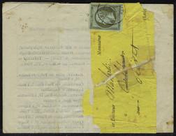 Lettre N° 11, 1c Olive Seul Sur Bande Et Imprimé, Origine Dieppe, Càd 30 Dec 62 Pour Olivet Loiret, Au Verso Càd Orléans - Stamps