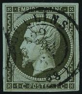 Oblitéré N° 11 + 11a, 2 Nuances Du 1c Napoléon ND, TB - Stamps