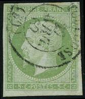 Oblitéré N° 12, Et 12a, 2 Nuances Du 5c Empire ND Vert Et Vert Jaune T.B. - Stamps