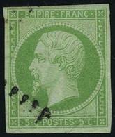 Oblitéré N° 12a, 5c Vert Jaune TB - Stamps