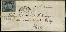 Lettre N° 14. (légèrement Défectueux) Sur Lettre CàD Armée D'Orient 7 Nov 54. AOGI Pour Paris. Arrivée : 22 Nov 54. T.B. - Stamps