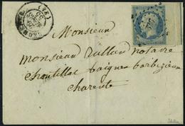 Lettre N° 14i, 20c Bleu Bdf Avec Filet D'encadrement Sur L T.B. Signé - Stamps