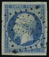 Oblitéré N° 15, 25c Bleu Empire Obl Légère, Très Belle Marges, Superbe - Stamps