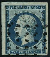 Oblitéré N° 15, 25c Bleu Empire, Oblitéré Gros Points, T.B. - Stamps