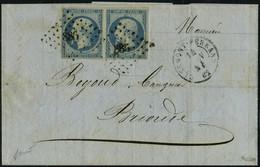 Lettre N° 15, 25c Bleu Parme Sur L Obl PC 886 Clermont Ferrand Juin 54 Pour Brioude, T.B. Signé Calves - Stamps