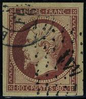Oblitéré N° 17A, 80c Carmin Obl Légère Los PC 441 + Càd, Très Belles Marges Superbe - Stamps